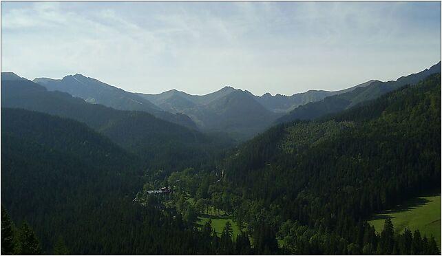 Widok na Kuźnice i Kasprowy Wierch, Zakopane