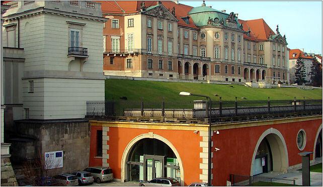 Wschodnia fasada Zamku i Arkady Kubickiego 002, Warszawa