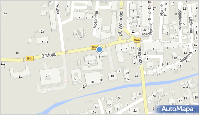 Hrubieszów, 3 Maja, 1, mapa Hrubieszów