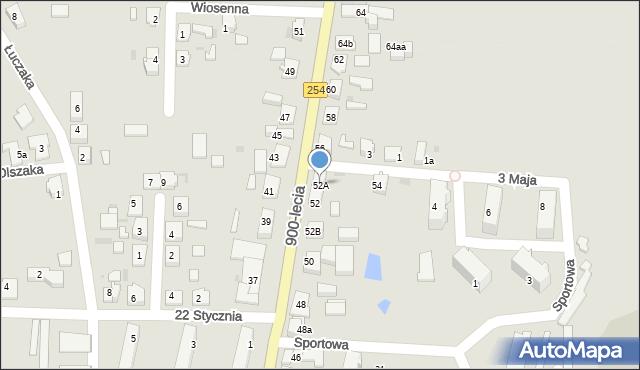 Mogilno, 900-lecia, 52A, mapa Mogilno
