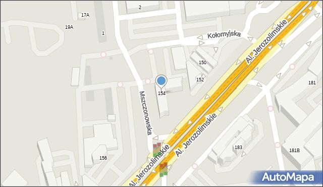Warszawa, Aleje Jerozolimskie, 154, mapa Warszawy