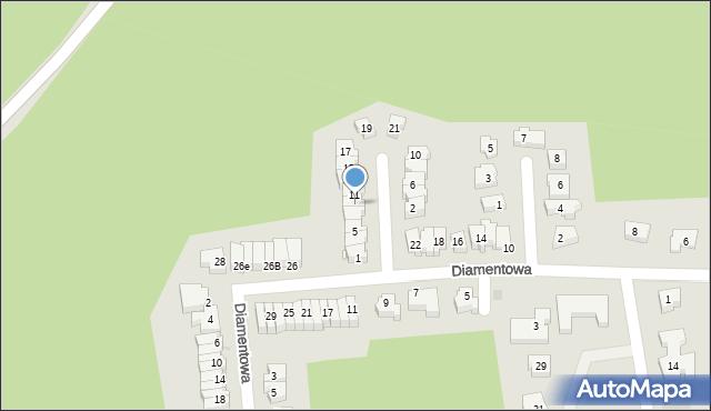 Zielona Góra, Ametystowa, 9, mapa Zielona Góra