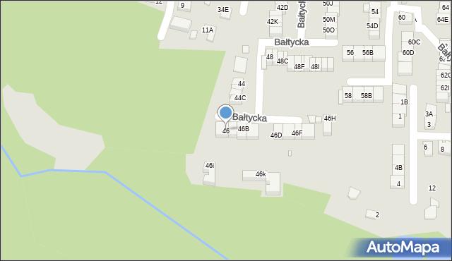 Katowice, Bałtycka, 46, mapa Katowic