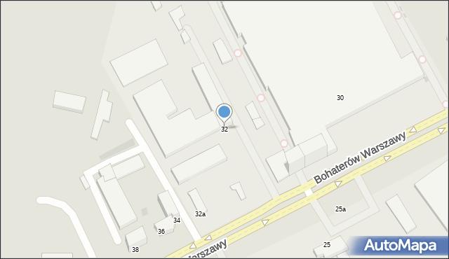 Koszalin, Bohaterów Warszawy, 32, mapa Koszalina