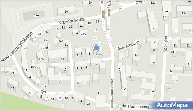 Lublin, Boczna Lubomelskiej, 1, mapa Lublina