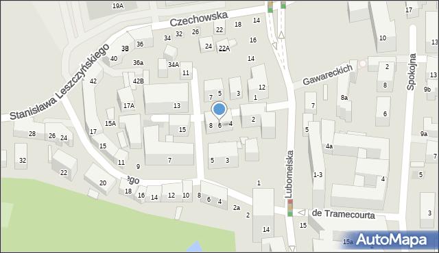 Lublin, Boczna Lubomelskiej, 6, mapa Lublina