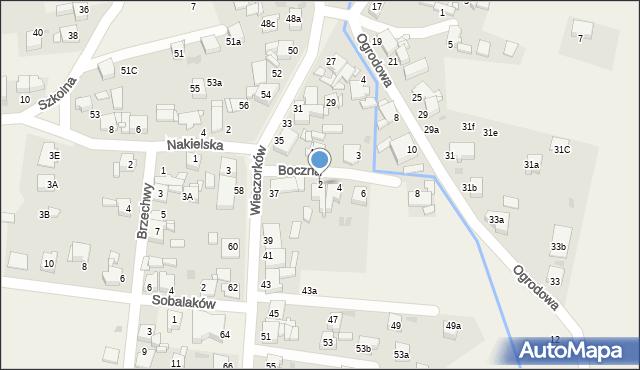 Orzech, Boczna, 2, mapa Orzech