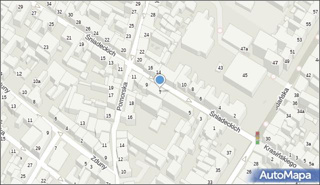 Bydgoszcz, Braci Śniadeckich Jana i Jędrzeja, 7, mapa Bydgoszczy