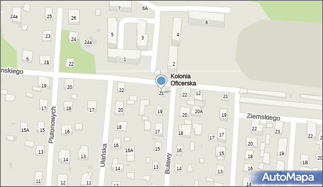 Warszawa, Buławy, 21, mapa Warszawy