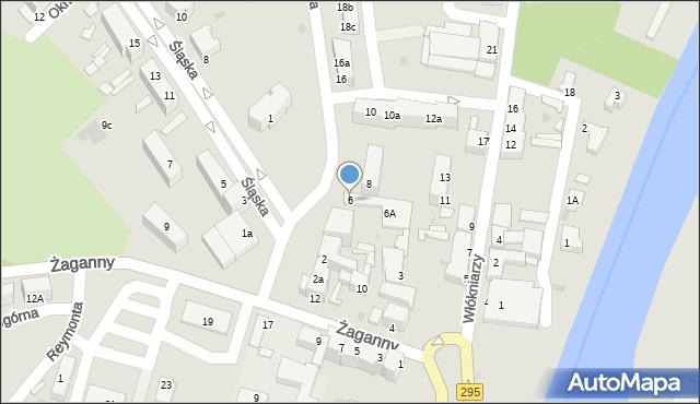 Żagań, Buczka, 6, mapa Żagań