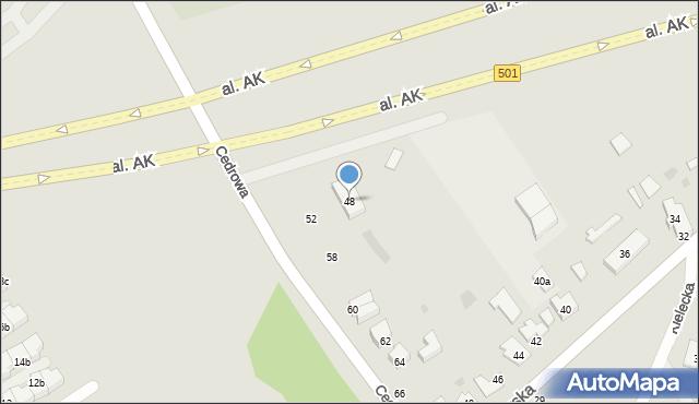 Gdańsk, Cedrowa, 48, mapa Gdańska