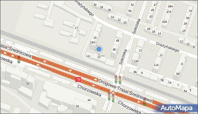 Katowice, Chorzowska, 11, mapa Katowic