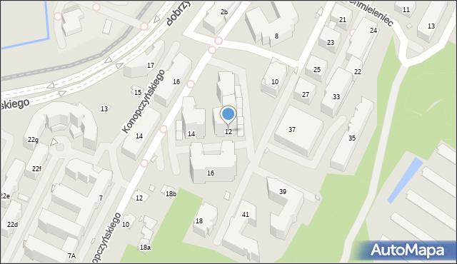 Kraków, Chmieleniec, 12, mapa Krakowa