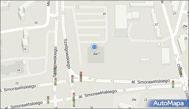 Lublin, Chodźki Witolda, dr., 10a, mapa Lublina