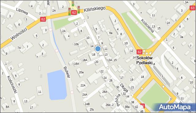Sokołów Podlaski, Długa, 18, mapa Sokołów Podlaski