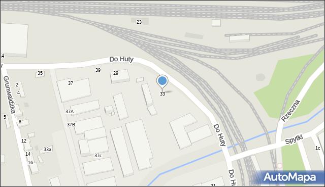 Tarnów, Do Huty, 33, mapa Tarnów