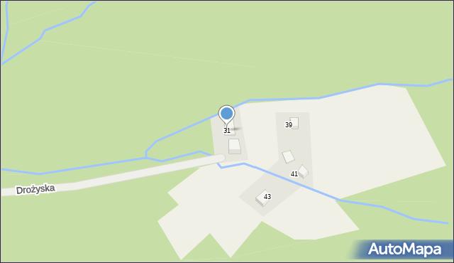 Brenna, Drożyska, 31, mapa Brenna