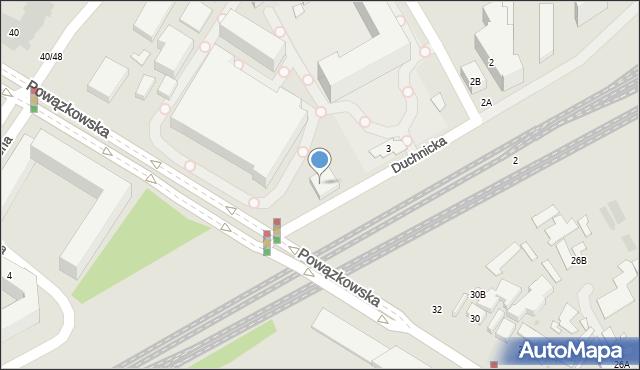 Warszawa, Duchnicka, 5, mapa Warszawy