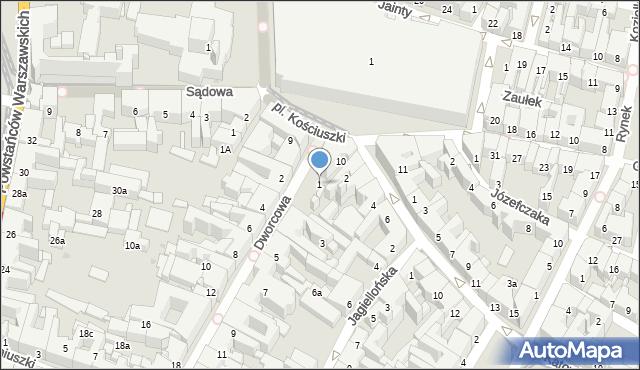 Bytom, Dworcowa, 1, mapa Bytomia