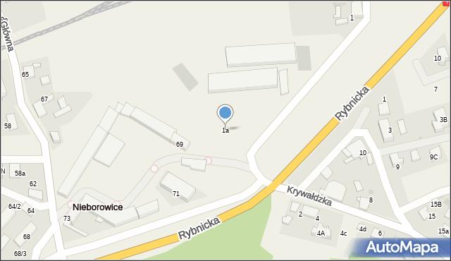 Nieborowice, Dworcowa, 1a, mapa Nieborowice