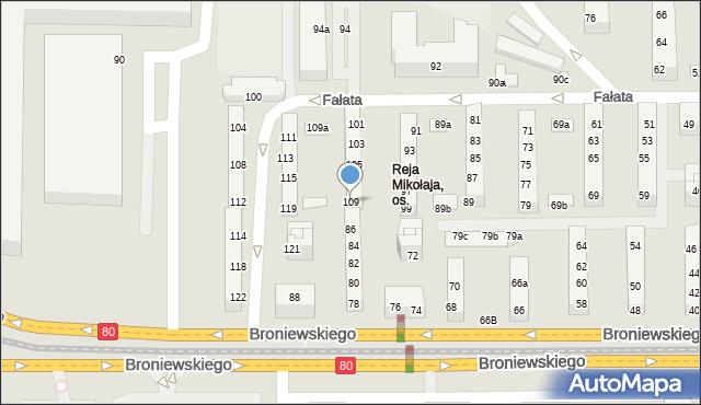 Toruń, Fałata Juliana, 109, mapa Torunia