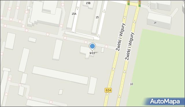 Warszawa, Franciszka Żwirki i Stanisława Wigury, 9/13, mapa Warszawy