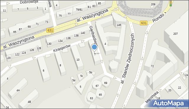 Warszawa, Garibaldiego Giuseppe, 7, mapa Warszawy