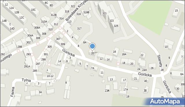 Wrocław, Gorlicka, 10, mapa Wrocławia