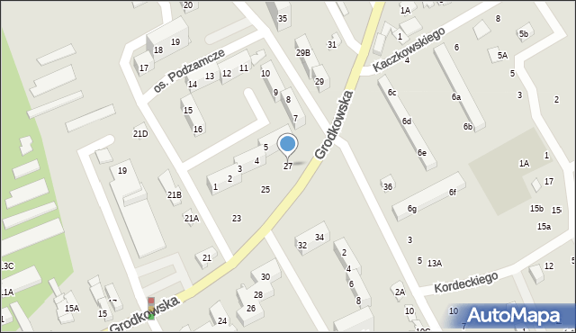 Nysa, Grodkowska, 27, mapa Nysy