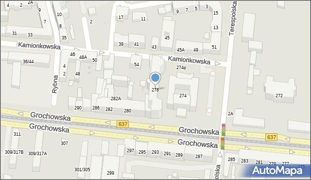 Warszawa, Grochowska, 278, mapa Warszawy