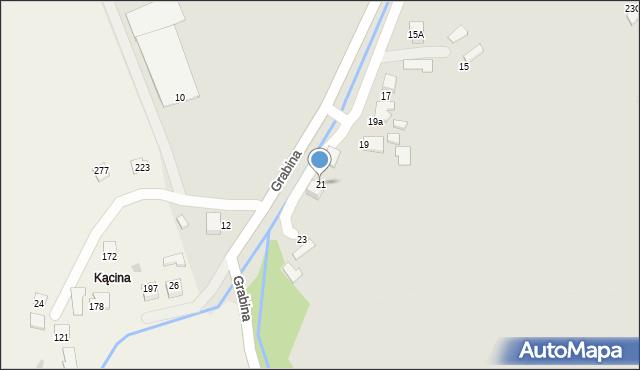 Zakliczyn, Grabina, 21, mapa Zakliczyn