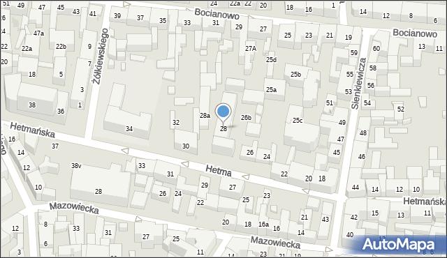 Bydgoszcz, Hetmańska, 28, mapa Bydgoszczy