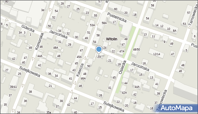 Warszawa, Jarocińska, 23, mapa Warszawy