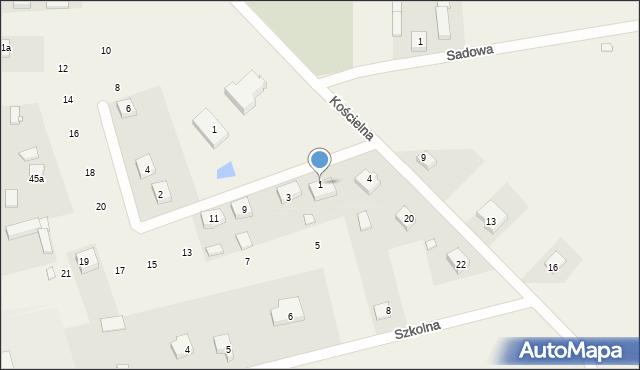 Wąsowo, Jana Rożka, 1, mapa Wąsowo