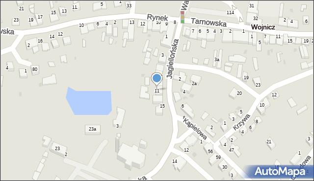Wojnicz, Jagiellońska, 11, mapa Wojnicz