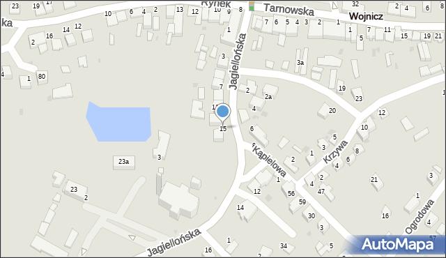 Wojnicz, Jagiellońska, 15, mapa Wojnicz