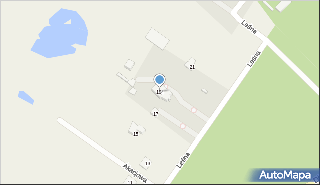 Jeziorko, Jeziorko, 105H, mapa Jeziorko