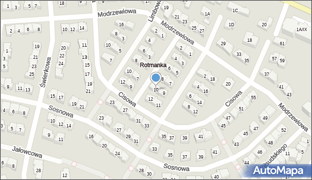 Rotmanka, Jodłowa, 10, mapa Rotmanka
