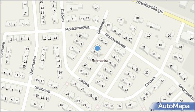 Rotmanka, Jodłowa, 3, mapa Rotmanka