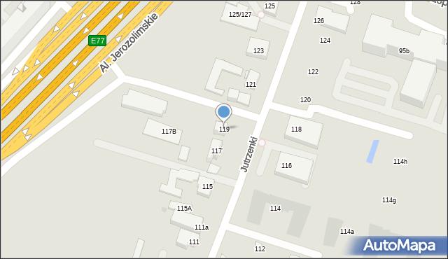 Warszawa, Jutrzenki, 119, mapa Warszawy