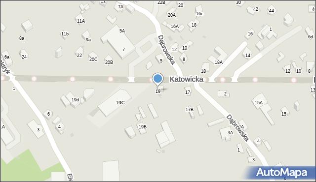 Jaworzno, Katowicka, 19, mapa Jaworzno