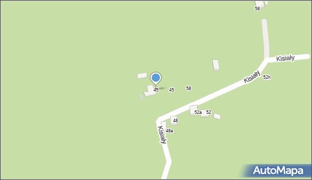 Brenna, Kisiały, dr., 45, mapa Brenna