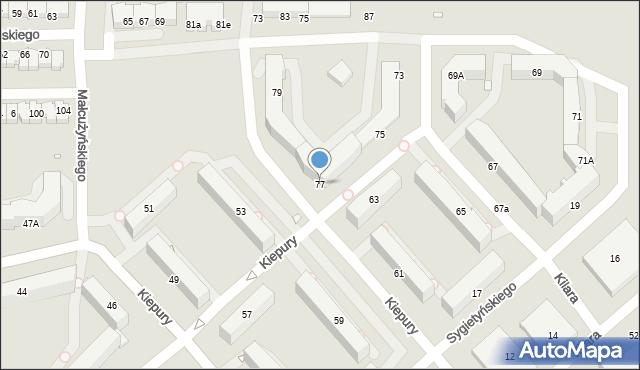Jelenia Góra, Kiepury Jana, 77, mapa Jelenia Góra