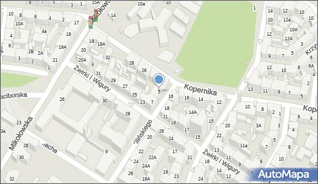 Katowice, Kilińskiego Jana, płk., 5, mapa Katowic
