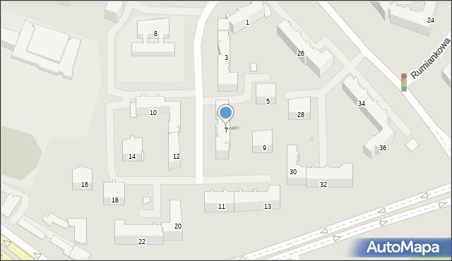 Białystok, Konwaliowa, 7, mapa Białegostoku