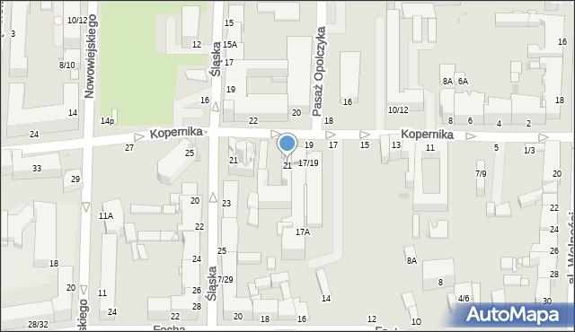 Częstochowa, Kopernika Mikołaja, 21, mapa Częstochowy
