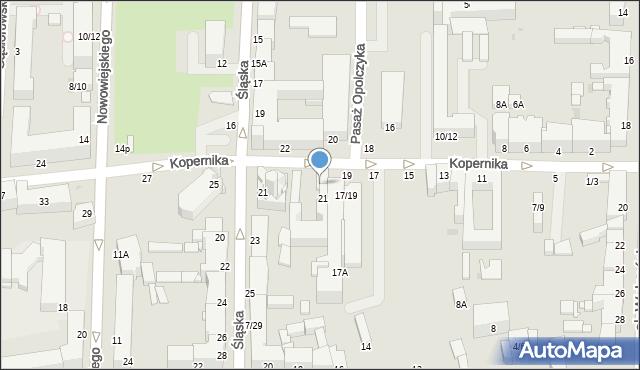 Częstochowa, Kopernika Mikołaja, 21a, mapa Częstochowy