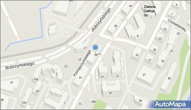 Kraków, Konopczyńskiego Władysława, prof., 16, mapa Krakowa