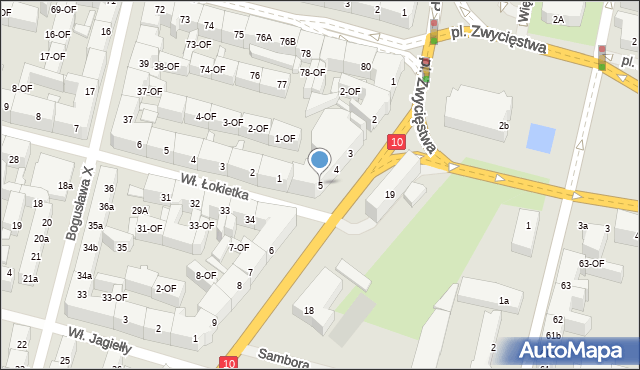 Szczecin, Kopernika Mikołaja, 5, mapa Szczecina
