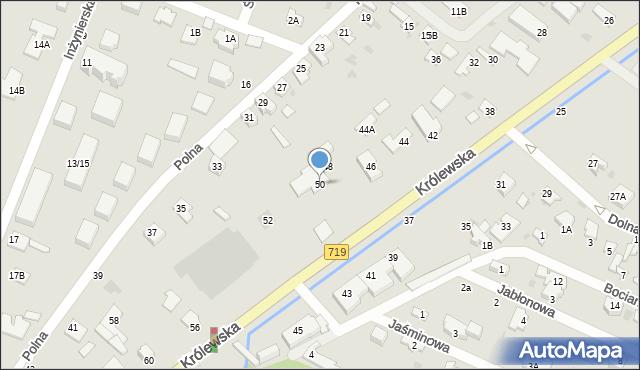 Milanówek, Królewska, 50, mapa Milanówek